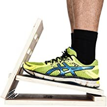 Exercise Slant Board - Adjustable Incline Calf Stretcher Board / Wood Slant Board To Stretch Calf 4 Angles 8°, 18°, 28°, 38° - Folding Slant Board For Calf, Ankle, Plantar Fasciitis & Foot Pain