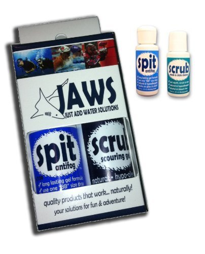 Snorkeling or Scuba Mask - Defog and Mask Cleaner Combo JAWS