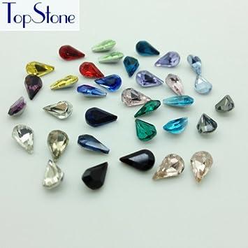 Generic mix colors   100pcs 5x8mm Small Teardrop rhinestones Point back  Tiny droplet Shape Glass Crystals diy nail art stone 35a7fc1c0296