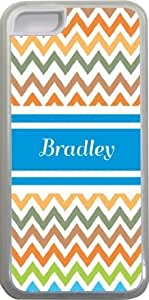 """NADIA Magic Diy """"Bradley"""" Blue Chevron Name Design iPhone 5c case cover vvixqlVYpY5 for Apple iPhone 5c sell on Zeng case cover"""