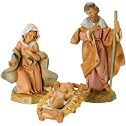 Fontanini by Roman Classic Holy Family Nativity Set, 3-Piece, 5-Inch Each