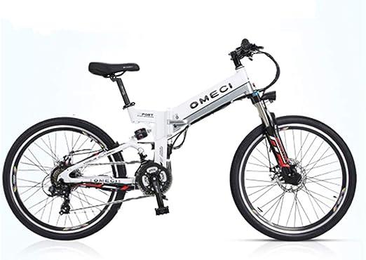 YUNYIHUI Bicicleta eléctrica, Bicicleta eléctrica de 26 Pulgadas, Bicicleta de montaña Plegable (48V10ah 350W), Doble suspensión y Shimano de 21 velocidades,B-48V10ah: Amazon.es: Hogar