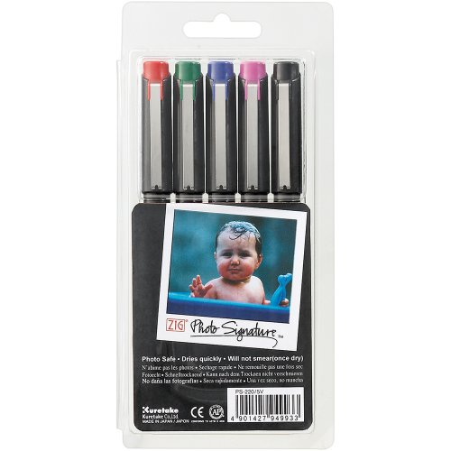 Zig 2mm Tip Photo Signature Markers, Assorted Color (Picture Markers compare prices)