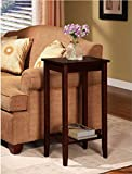 Cheap Sturdy Coffee Tall Accent End Table. Flower Vase Holder Can Be Placed on Top, the Lower Rack to Store Books. Can Be Placed Beside Sofa in the Living Room or Bedroom As Nightstand. Brown