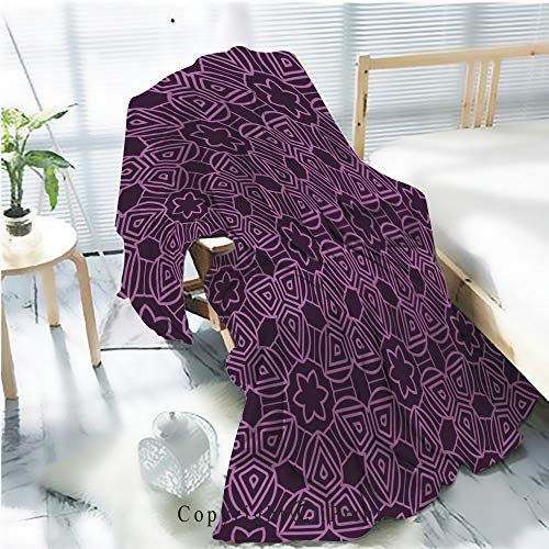 Printed Throw Blanket Smooth and Soft Blanket,Decorative geometric ornament seamless pattern vector illustration for design wallpaper invitation13 For Sofa Chair Bed Office Travelling Camping,Kid Ba