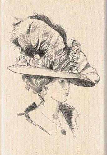 Inkadinkado Victorian Lady Wood Stamp