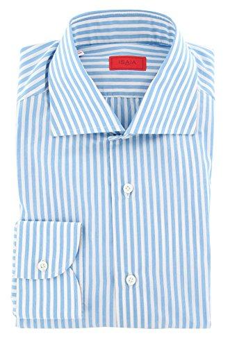 new-isaia-blue-striped-slim-shirt