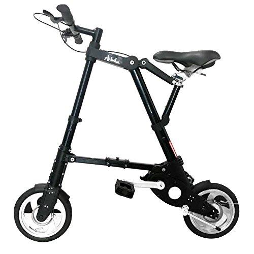 超軽量 超小型Bicycle A型bike 8インチ 10インチ折り畳み自転車 スポーツ/アウトドア/ 駅通い/ピクニック/遠足/収納袋付き 8ABike-Sliver/10ABike-Black B0794WM61W10ABike-Black