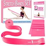 kids ballet bar - Set of 2 Stretch Bands for Exercise for Kids & Adults + Dancer Gifts Box - Stretching Bands for Flexibility Leg Stretcher