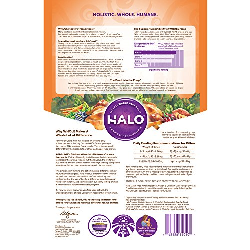 Halo holistic dry cat food for kittens chicken and chicken liver halo holistic dry cat food for kittens chicken and chicken liver recipe 6 lb forumfinder Image collections