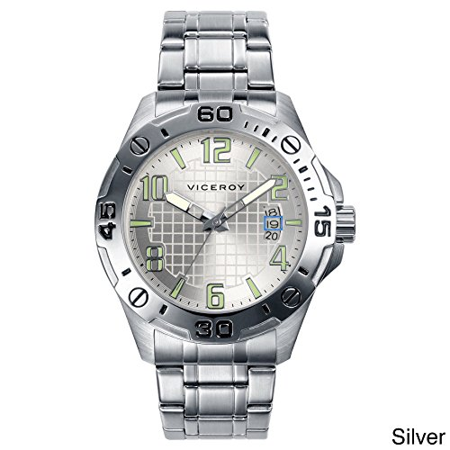 Viceroy Men's 40389-05 Silver Stainless-Steel Band Watch.