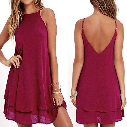 one shoulder red dress ebay - 8