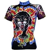 QinYing Animal Printing Floral Short Sleeve Bicycle Cycling Jersey for Women