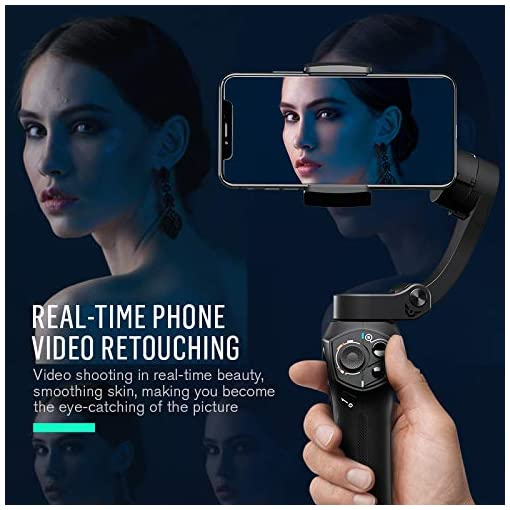 Snoppa Atom 3-Axis Foldable Pocket Sized Handheld Phone Gimbal Stabilizer 310g Payload for GoPro Hero 8 7 4 5 6 iPhone… Accessories
