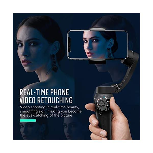 Stabilizzatore Smartphone Snoppa Atom Foldable, Gimbal Smartphone 3 Assi, per Cellulare iPhone Huawei Xiaomi Samsung etc, stabilizzatore per gopro 8 7 6 5, 310g carico utile, durata 24 ore,Pan 360° 5 spesavip
