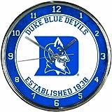 NCAA Duke Blue Devils Chrome Clock