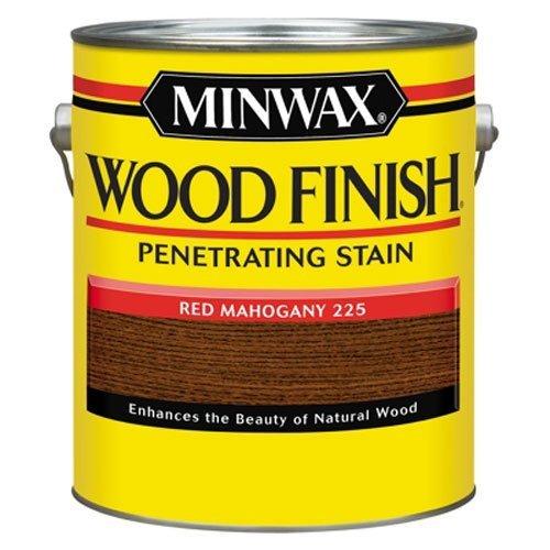 Mahogany Gallon - Minwax 71007000 Wood Finish Penetrating Stain, gallon, Red Mahogany