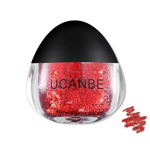 UCANBE Glitter Gel for Face, Body and Hair, Cruelty-Free, 0.