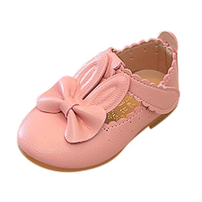 Amazon.com: Baby Mary Jane BOLLH Niños Niñas Conejo Bowknot ...
