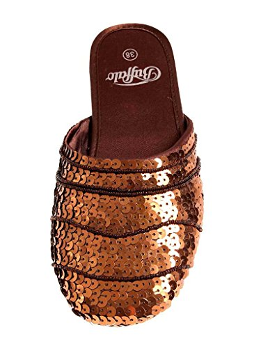 Buffalo Pantoletten-Bronze-Glitter-38