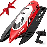 VOLANTEXRC Remote Control Boat Claymore for Pools and Lakes, 30KM/H High Speed Radio Control Boat for Kids and Adults, 2.4Ghz RC Boat with Self-righting, Reverse for Boys and Girls (795-2)