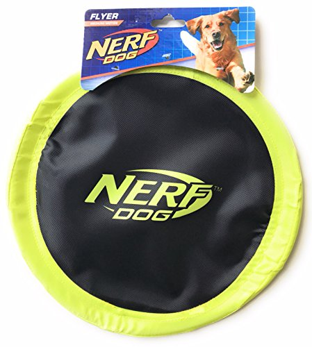 Nerf Dog Flyer Disc Dog Toy For Medium Size Dogs - Yellow Color by Nerf Dog