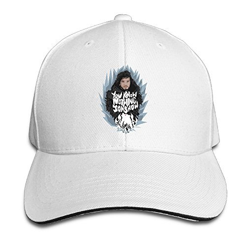 [Z-Jane You Know Nothing Cycling Sandwich Cap White] (Grumpy Cat Costume Ideas)