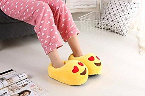 Emoji Slippers Winter Shoes House Cozy Slippers eye Fluffy Warm Thicken Unisex Funny Slippers Heart ATxqtn8w1