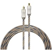 Optical Audio Cable , Mayfan SPDIF 5.0mm Toslink Male to Male Digital Braided Fiber Optic Audio Cable Cord with Copper Metal Connectors -33 Feets ( 10 meters)