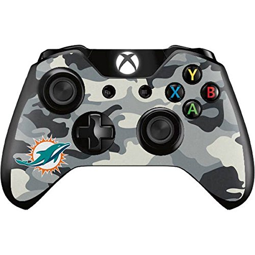 Skinit NFL Miami Dolphins Xbox One Controller Skin - Miami Dolphins Camo Design - Ultra Thin, Lightweight Vinyl Decal Protection by Skinit