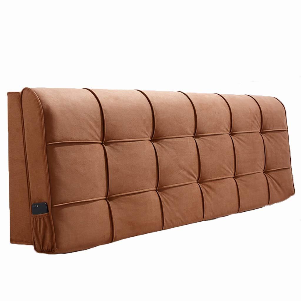 ベッド枕 ベッドサイドクッションソフトバッグ大背もたれシンプルなダブルぬいぐるみ素材取り外し可能な洗える枕ベッドカバーセットベッドサイド使用スポンジフィラーサイズ90センチメートル - 200センチメートル 写真ベッド枕首まくら (色 : J j, サイズ さいず : 90センチメートル) B07RY4S8CK