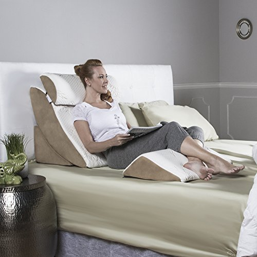 Avana Kind Bed Orthopedic Support Pillow Comfort System with Bamboo Cover (Bed Back Support)