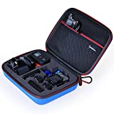 Smatree SmaCase G160 Carrying Case for Gopro Hero 5, 4, 3+, 3, 2, 1,Blue( Camera and Accessories NOT included)