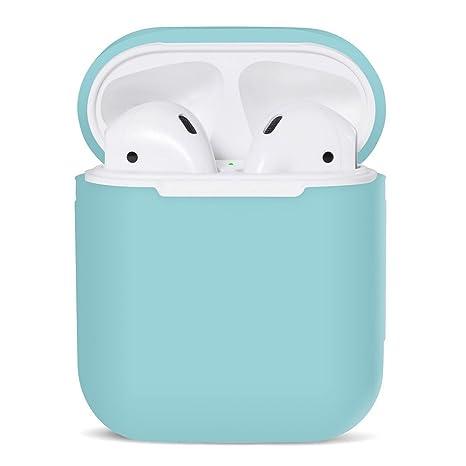 iMusk Airpods Funda de transporte de silicona Funda protectora Funda de bolsa de piel para Apple