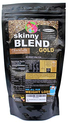 Sale! - Skinny Blend Gold! Best Tasting Protein Shake for Women, Delicious Smoothie - Weight Loss - Low Carb - Diet Supplement - Weight Control - Appetite Suppressant (15 Servings, Chocolate)