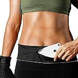PORTHOLIC Running Belt Flip Belt with solid zipper 1 pcs Fitness Belt Reflective belt for Men/Women Outdoors Running Phone holder fits iPhone Xs Max/XS/XR/X/8/7/6 Plus Galaxy S10 Android phones Black