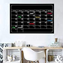 L&Y Magnetic Dry Erase Calendar for Refrigerator, 2019 Monthly Magnetic Board Planner Large Magnetic Whiteboard Calendar for Fridge to Do List Grocery List Organizer for Home Kitchen Office, Family Planner