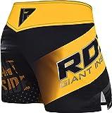 RDX MMA Blaze Shorts Stretch Clothing Training Cage Fighting Grappling Martial Arts Muay Thai Kickboxing Yellow