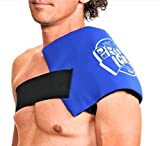 Pro Ice Cold Therapy Wrap for Shoulder - Treat Rotator Cuff Injuries, Swollen Shoulders, Shoulder Sprains, and Post-Surgery Icing Therapy PI260 Ice Pack Included