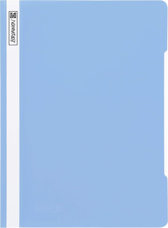 Baier /& Schneider Brunnen 102011032 25 pezzi colore: Azzurro in pellicola di plastica resistente Cartellina in PVC per formato A4