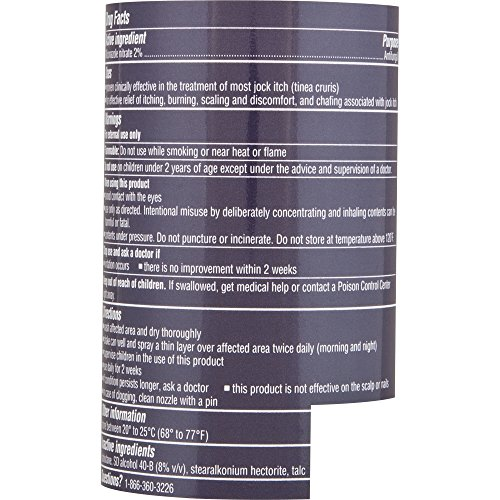Lotrimin AF Jock Itch Antifungal Powder Spray, Miconazole Nitrate 2%,  Clinically Proven Effective Treatment of Most Jock Itch, for Adults and  Kids