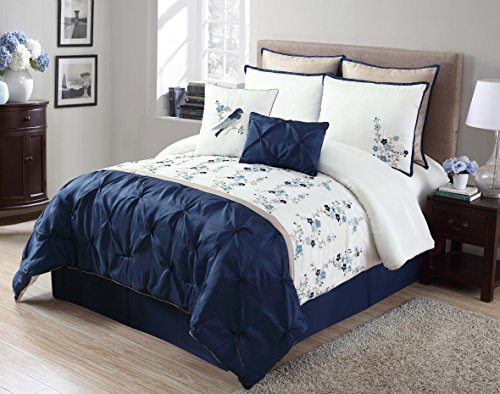 black white and blue bedding. Black Bedroom Furniture Sets. Home Design Ideas