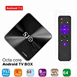 TV BOX,3G 64G S10 Smart 4K TV Box Android 7.1 Amlogic S912 Octa Cora 3GB DDR4 RAM 64GB ROM Auto update Set Top Boxes Support 3D 4K HD TV Bluetooth 4.1 Wifi
