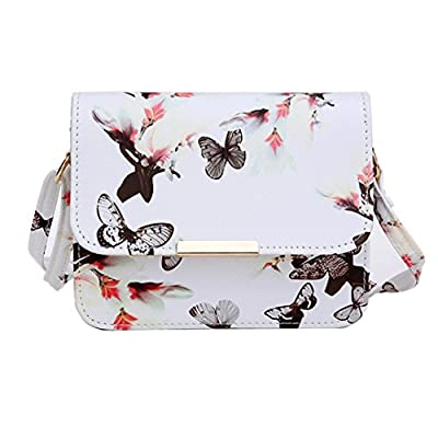 70%OFF Women Bags Design Small Satchel Women Bag Flower Butterfly Printed  PU Leather Shoulder 8a6552c1c6
