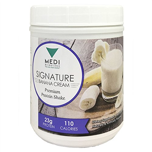 Medi-Weightloss Banana Cream Premium 3 Protein Blend Powder - High Protein (23g) - For Hunger Control During Diet/Weight Loss - 1 lb canister by Medi-Weightloss