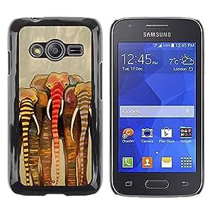 TopCaseStore / la caja del caucho duro de la cubierta de protección de la piel - Africa Beige Art Painting - Samsung Galaxy Ace 4 G313 SM-G313F
