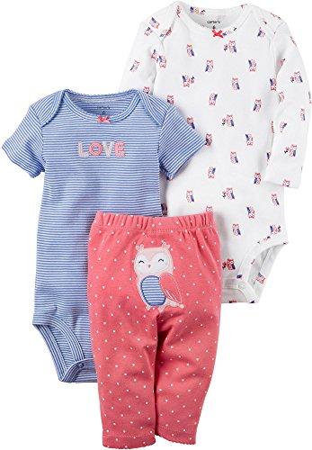 Carter's Baby Girls' 3 Piece Owl Set Newborn by Carter's