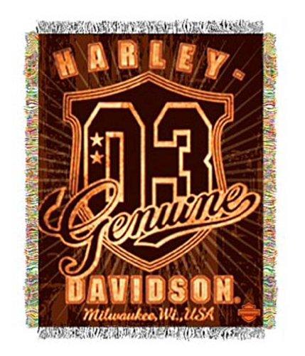 - Harley-Davidson Genuine Metallic Tapestry Blanket 48'' x 60'' NW512917