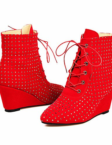 De Negro us8 Uk7 us9 Eu41 5 Vellón 5 5 Casual Rojo Moda Mujer Eu39 Brown 5 Marrón Zapatos Cuñas 10 Xzz Tacón Cuña Cn40 La Botas Vestido Cn42 8 Brown A Uk6 Puntiagudos 5U6Cwnq4Wx