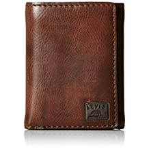 Levis Mens Trifold Wallet with Stitch Detail and Logo